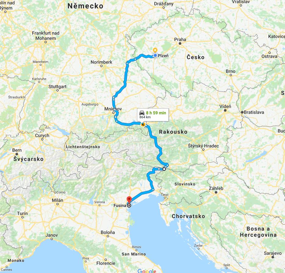 Cesta do Benátek_mapa_2